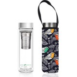 BBBYO Glass Tea Flask with Cover 500ml - Chirp