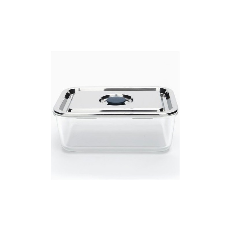Onyx Airtight Glass Container Stainless Steel Lid