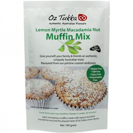 Oz Tukka Gluten Free Muffin Mix - Lemon Myrtle & Macadamia Nut