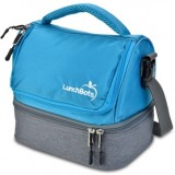 LunchBots Insulated Two Level Bag Aqua