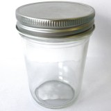 Glass Jar Smooth Half Pint 240ml