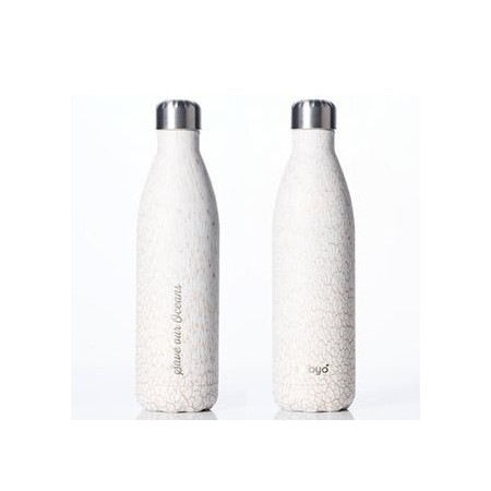BBBYO Stainless Steel Water Bottle 750ml - Whitesand