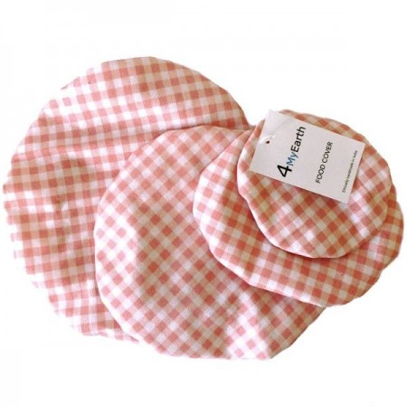 4MyEarth Food Cover Set - Red Gingham LAST CHANCE!