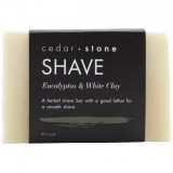 Cedar + Stone Shave Bar - Eucalyptus and White Clay