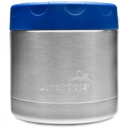 LunchBots Insulated Stainless Steel Container 470ml 16oz - Blue