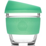 JOCO Glass Reusable Cup 235ml 8oz - Seaglass Vintage Green