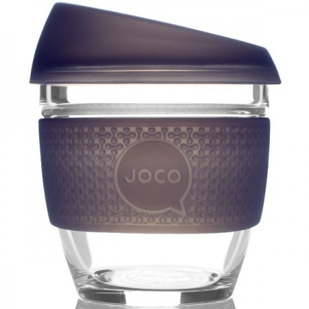 JOCO Glass Reusable Cup 235ml 8oz - Seaglass Mood Indigo