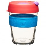 KeepCup Medium Glass Cup 12oz (340ml) - Hibiscus