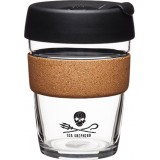 KeepCup Medium Glass Cup Cork Band 12oz (340ml) - Sea Shepherd