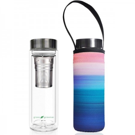 BBBYO Glass Tea Flask with Cover 500ml - Peace