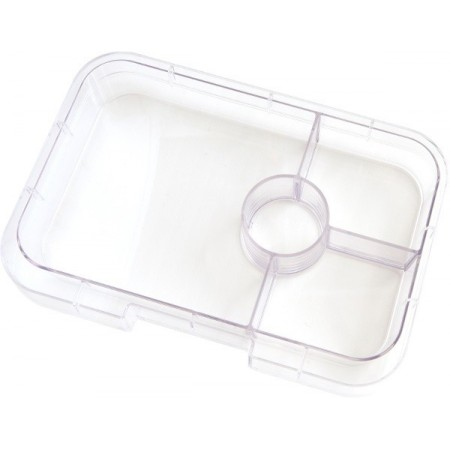 YumBox Tapas 4 Section Interchangable Tray - Clear