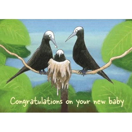 Paula Peeters Wildlife Greeting Card Baby Noddies