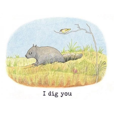 Paula Peeters Wildlife Greeting Card Wombat and Pardalote