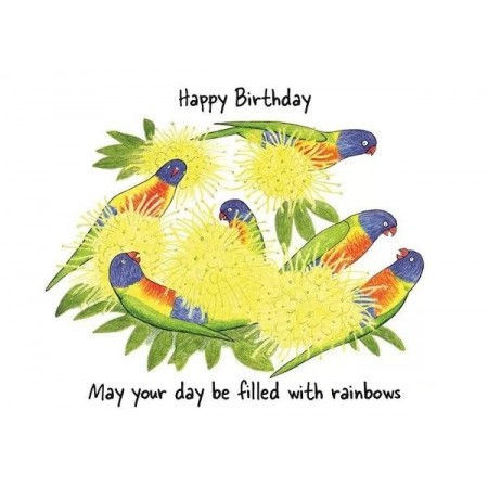 Paula Peeters Wildlife Greeting Card Birthday Rainbows