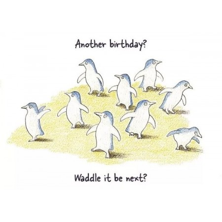 Paula Peeters Wildlife Greeting Card Birthday Penguins