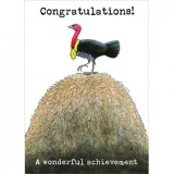 Paula Peeters Wildlife Greeting Card Brush Turkey
