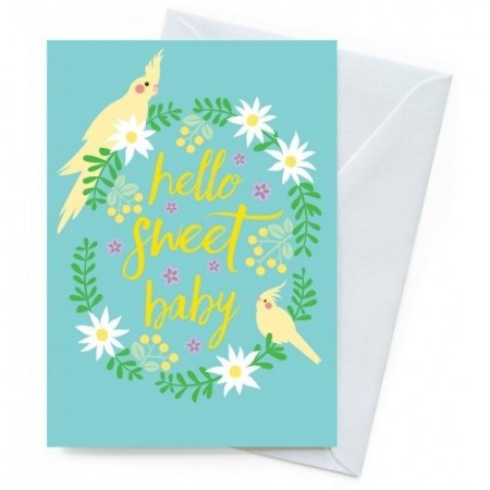 Earth Greetings Card- Baby Cockatiels
