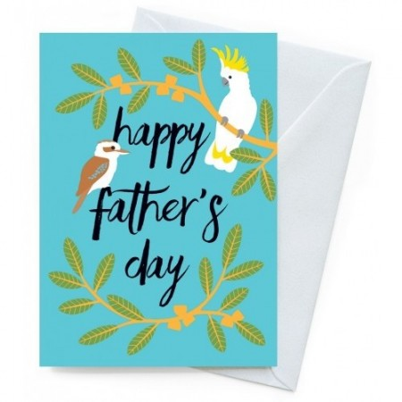 Earth Greetings Father's Day Card - Bush Birds