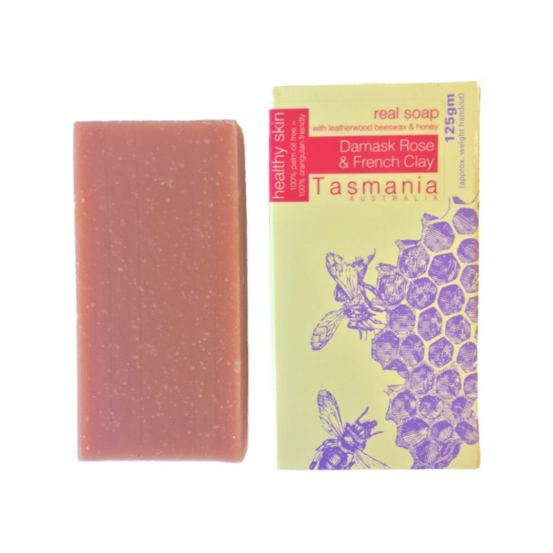 Beauty & the Bees Real Soap - Damask Rose & French Clay