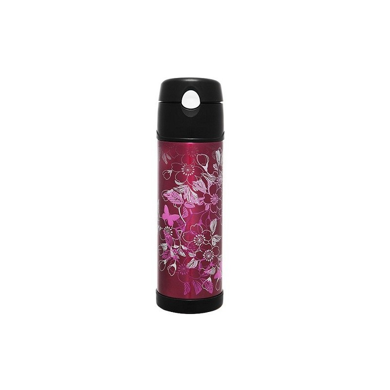 Thermos Insulated Stainless Steel Bottle 530ml - Floral Magenta