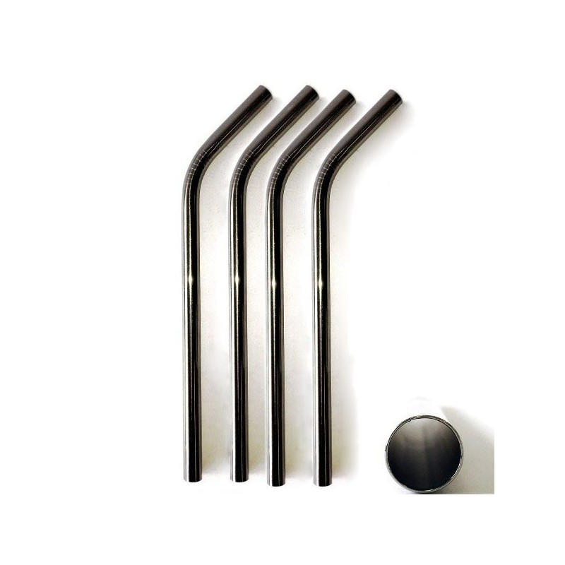 Stainless Steel Smoothie Straw (9 5mm) - Bent - Biome Eco Stores