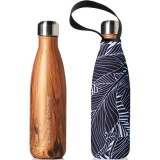BBBYO Stainless Steel Water Bottle with Cover 500ml - Wood Leaf