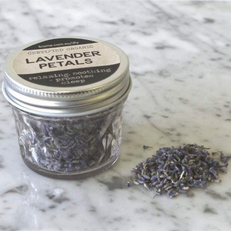 Lavender Flowers Dried Organic in Glass Jar 15g