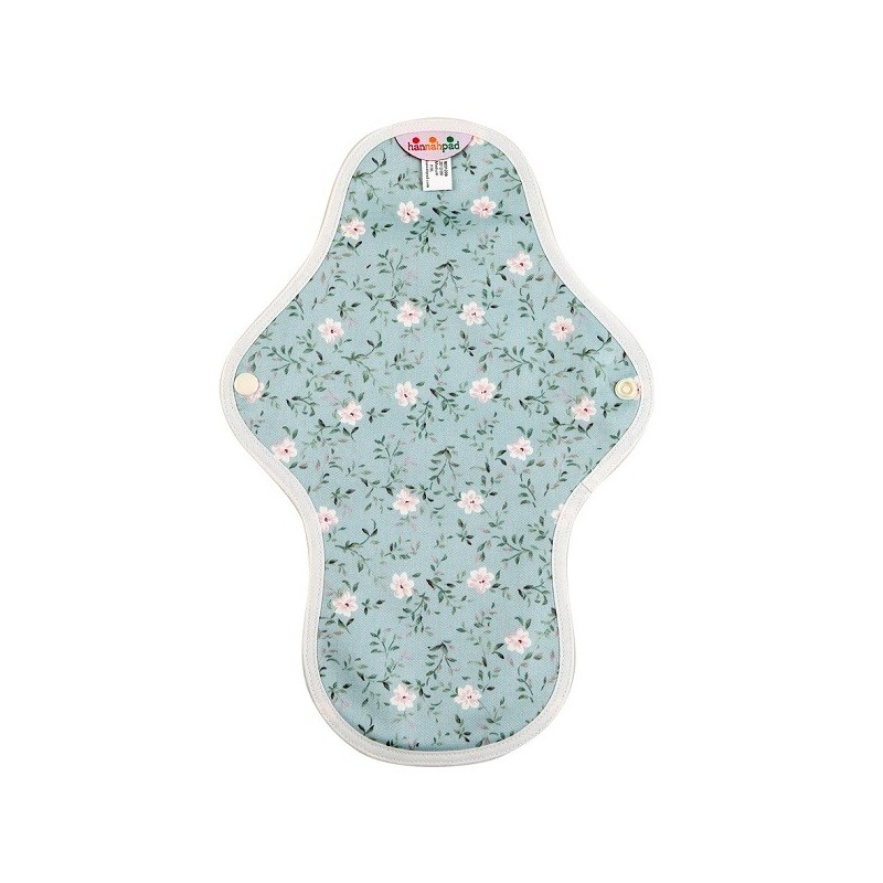 Hannahpad Medium Organic Cotton Cloth Pad w/Grip - Blue Edelweiss