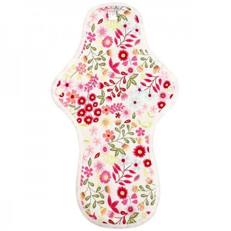 Hannahpad Large Cloth Pad - Flower Garden Pink