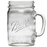 Ball Mason Jar with Handle 475ml 16oz - Regular Mouth