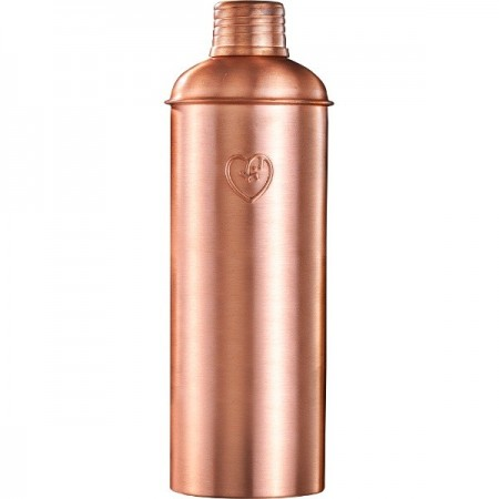 Yogibeings Copper Water Bottle 600ml - Matte Tall & Slim