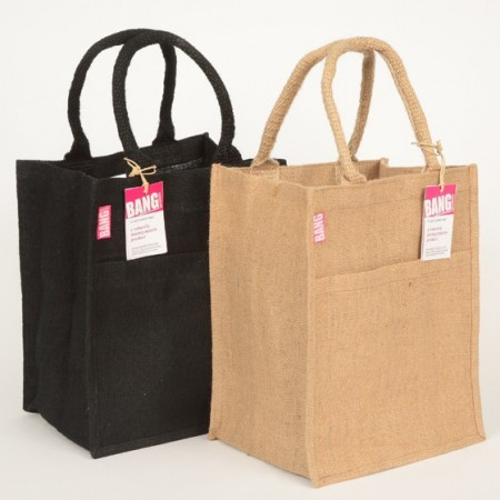 Jute Tote Shopping Bag With Pocket Biome