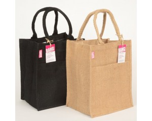 Jute Tote Shopping Bag with Pocket