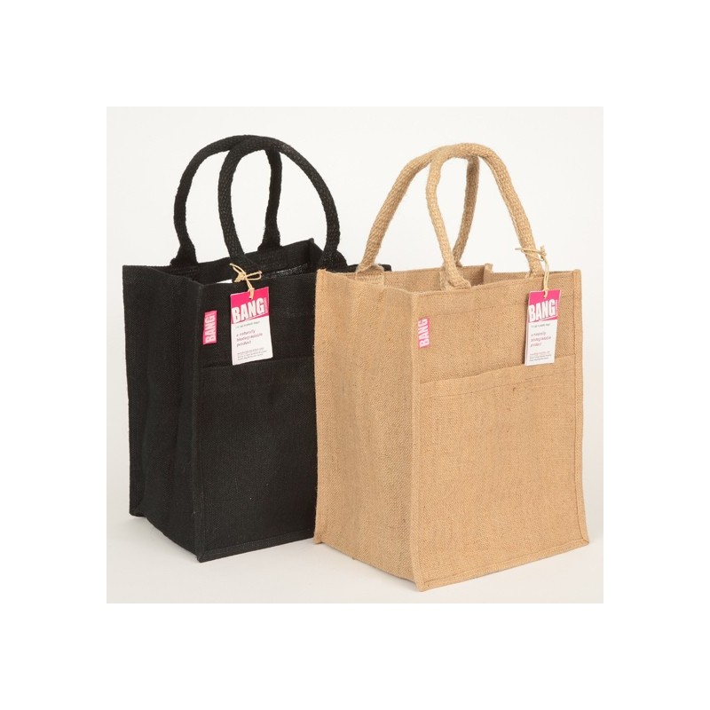 Wholesale Jute Reusable Tote Shopping Bags 100/% Biodegradable in Various Sizes