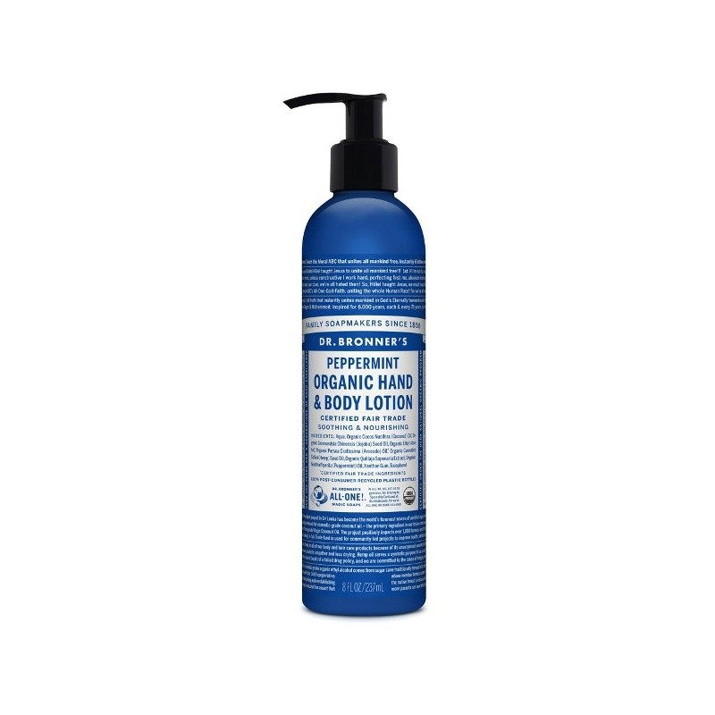 Dr. Bronner's Hand & Body Lotion 237ml - Peppermint