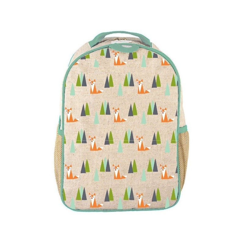 SoYoung Raw Linen Toddler Backpack - Olive Fox