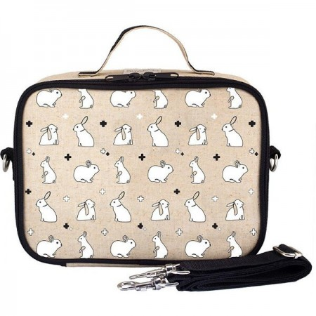 SoYoung Raw Linen Insulated Lunch Box - Bunny Tile