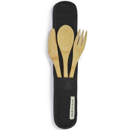 Choose to Reuse Bamboo Cutlery Set - Black