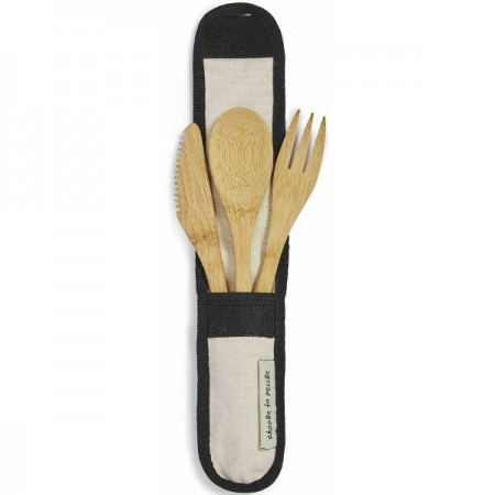 Choose to Reuse Bamboo Cutlery Set - Natural