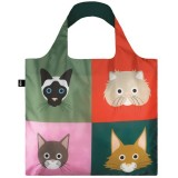 Loqi Reusable Shopping Bag - Stephen Cheetham Cats