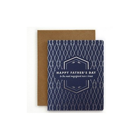 Bespoke Letterpress Card - Father's Day Magnificent
