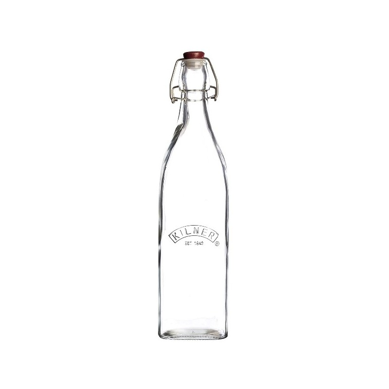 Kilner Clip Top Preserve Bottle Square sides 1Litre