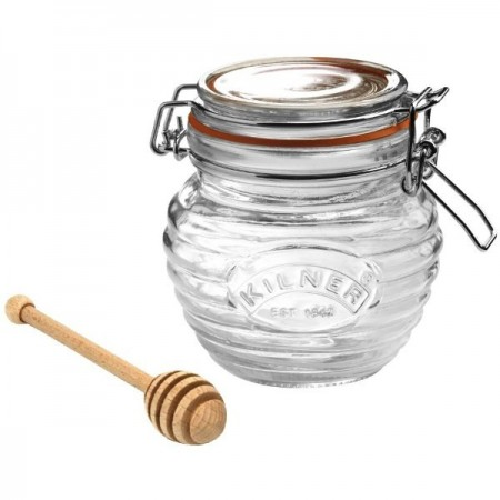 Kilner Honey/Maple Pot & Drizzler Spoon 400ml