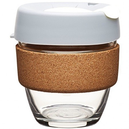 KeepCup small glass cup cork band 8oz (227ml) - Fika