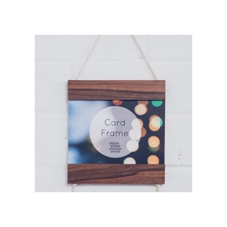 Corner Block Studio Card Frame - Brunette