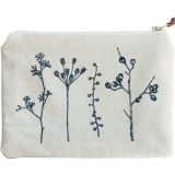 One Thousand Lines Flat Botanica Pouch -  Natural