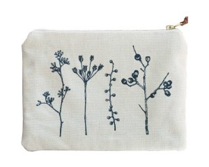 One Thousand Lines Flat Pouch - Natural/Botanica