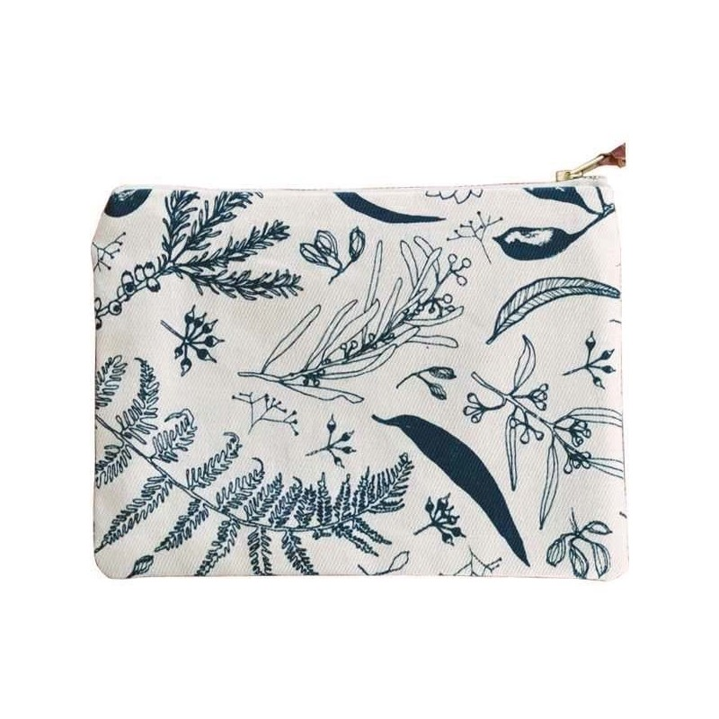 One Thousand Lines Pouch - Natural/Gathered