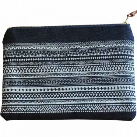 One Thousand Lines Pouch - Black/Geo