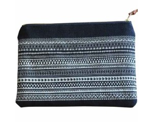One Thousand Lines Flat Pouch - Black/Geo